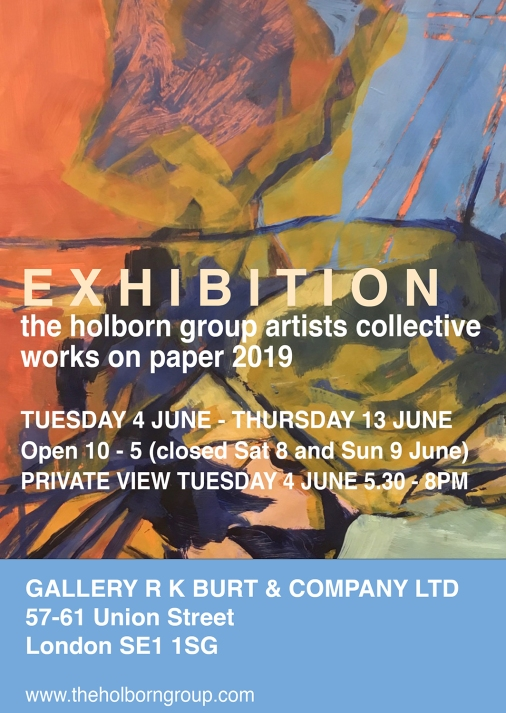 exhibition postcard Works on Paper 2019